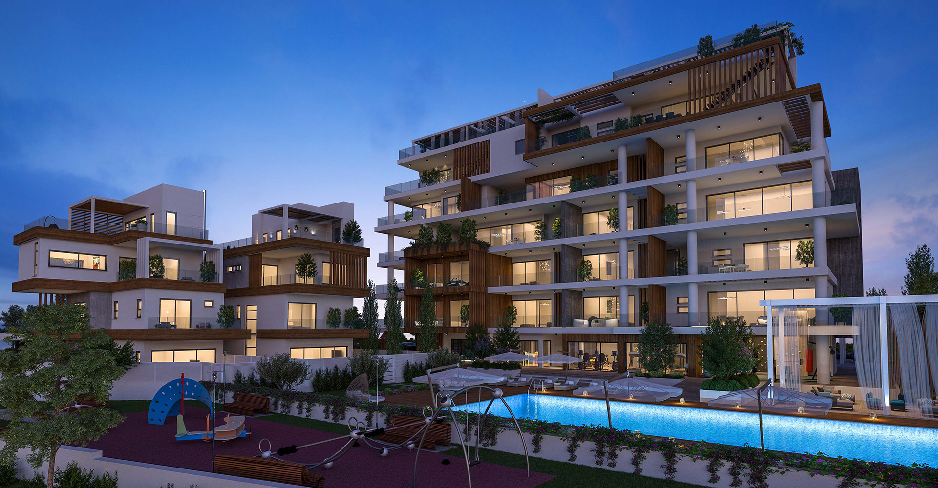 Oasis Residence Project - Night View